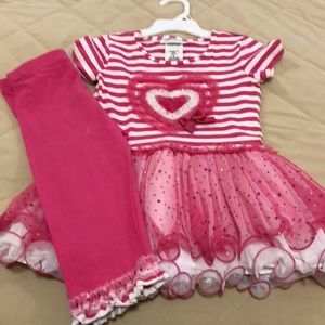 Girls Pink Two-Piece Outfit